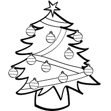 free printable christmas tree coloring pages kids clip art