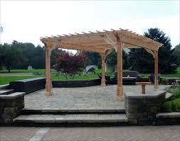 living room classic pergola design bamboo home backyard ice rink