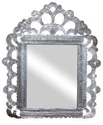 goth hammered metal mid evil silver tone mirror chairish