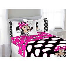 minnie mouse bedroom set disney minnie dots are the new black twin sheet set walmart com