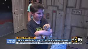 sick anthem boy gifted with star wars themed room youtube