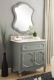 34 Bathroom Vanity Gray Knoxville Bathroom Vanity W Mirror Gd 1533ck Mir