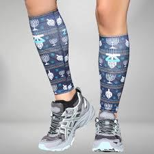 chanukah socks chanukah compression leg sleeves hanukkah zensah