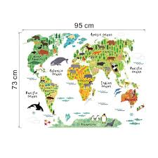 zoom art diy vinyl wall sticker decal world map kids room office zoom art diy vinyl wall sticker decal world map kids room office home decor