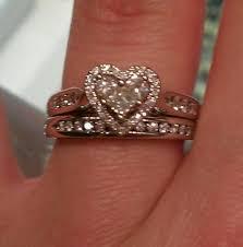 Heart Shaped Wedding Rings by Best 25 Heart Wedding Rings Ideas On Pinterest Wedding Rings