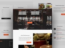 voila restaurant web template freebie download photoshop