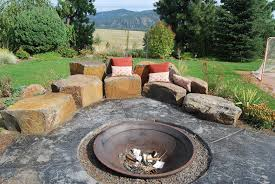 Rock Firepit Pits Rock Placing Company