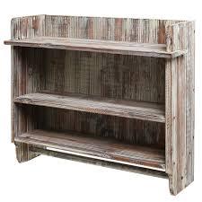 Bathroom Shelf Organizer by 3 Tiered Country Rustic Wall Mounted Wood Bathroom Shelf Organizer