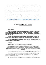 Armchair In Spanish How To Learn Spanish Synergy Spanish Review