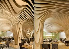 formakers banq restaurant topographic design