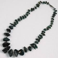 black necklace stone images Cut stone black jewel necklace jewelry jpg