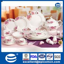 luxury fine bone china square turkish porcelain dinnerware sets