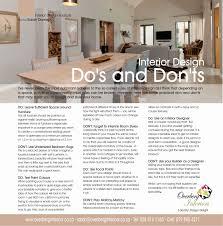 home design do s and don ts home interior do s s overberg interiors