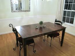 dining table black stained dining room table fetching home