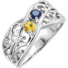 2 mothers ring 1 to 5 stones s ring