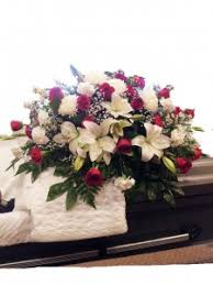 Roses And Lilies Red Roses And White Lilies Casket Spray In Uvalde Tx The Flower