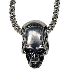 silver skull chain necklace images Silver skull studded necklace fj 114 by medieval collectibles png