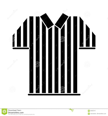 silhouette referee jersey stripes american football stock vector