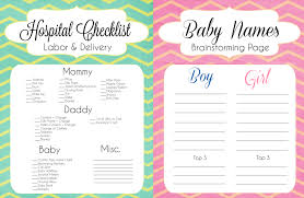 top 15 things to do before your baby arrives free printable