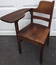 Wooden Student Desk America Brown Antique Desks 1900 1950 Ebay
