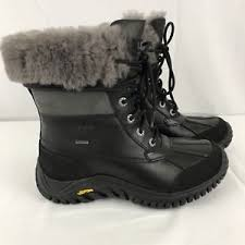 ugg australia womens black grey adirondack boots ugg australia womens adirondack boot ii 1906 w bkgy black grey