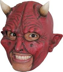 devil chinless halloween mask