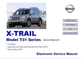 nissan x trail t31 series electronic service manual pdf