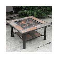 Firepit Ceramics Leisurelife 4 In 1 Coffee Table Grill Cooler Firepit