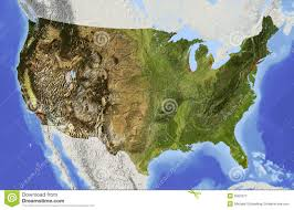us relief map usa relief map royalty free stock photography image 5567677