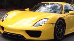 Porsche 918 Liquid Metal - porsche 918 spyder with racing yellow paint spotted in brazil video