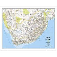 a picture of south africa map south africa classic wall map national geographic store