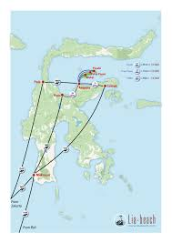 Map Of Jakarta How To Get There Lia Beach Togean Islands Bamboo Resort On