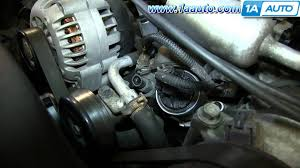 how to install replace engine coolant temperature sensor 5 7l