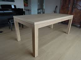 Table Chene Massif Moderne by Table En Chene Table Ronde Extensible Maisonjoffrois
