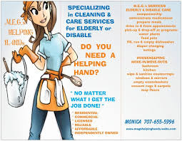 cleaning brochure templates free housekeeping flyers specializing in cleaning care for elder