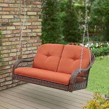front porch swing 2 person patio home seat tray furniture wooden