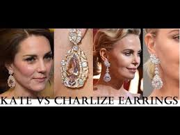 kate middleton diamond earrings kate middleton vs charlize theron spectacular oversized diamonds