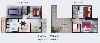 1 Bhk Row House Plans Homes Zone 1 Bhk Duplex House Plans