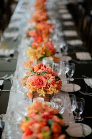 Long Table Centerpieces Wedding Wednesday Long Table Decor Flirty Fleurs The Florist