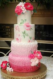 Stencil Painted Rose Cake