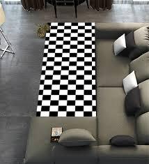 Checkerboard Area Rug Amazon Com Custom Checkered Area Rugs Carpet Black White