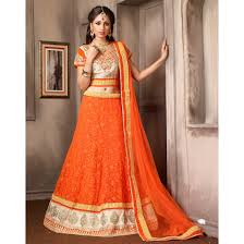 deep orange color lehenga choli sku no dfz4794 74029