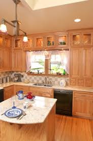 Raised Kitchen Island Affordable Custom Cabinets Showroom
