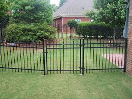 ornamental steel fence installation accent fence