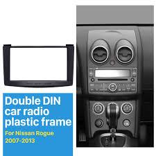 nissan rogue gps update 98mm black double din 2007 2013 nissan rogue car radio fascia