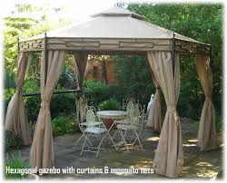 Outdoor Gazebo With Curtains Karlso Gazebo With Curtains Gazebos Ikea For 15