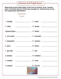 common and proper nouns common noun proper noun ela pinterest