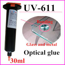 glue for glass to metal table sle price uv 611 uv light curing liquid optical clear glue