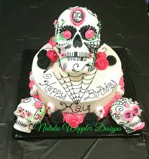 actual sugar skulls ten red velvet cake celebrate