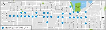 Seattle Map Downtown by Seattle Department Of Transportation Mercer Corridor Project